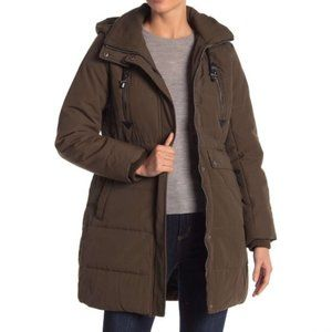Lucky Brand Hooded Parka Army Green Utility Jacket